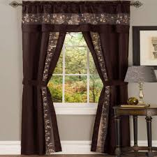Chocolate Curtains With Valance Sheer Curtains With Attached Valance Curtains U0026 Drapes Compare
