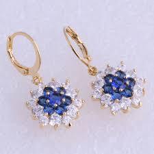 cubic zirconia drop earrings monologue aesthetic blue white cubic zirconia drop