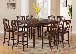 Square Dining Room Table For 4 by 5pc Square Counter Height Dining Room Table Set 4 Stools In Mahogany