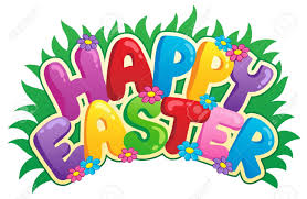 happy easter sign theme image 2 vector illustration royalty free