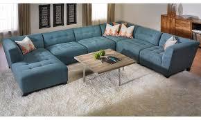 Tufted Sectional Sofa Chaise U Shape Blue Suede Tufted Sectional Sofa With Right Chaise Lounge