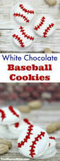 white chocolate baseball cookies baseball cookies white