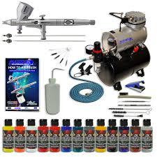 master precision detail control g444 airbrush kit w 3 tips