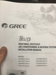 gree split air conditioner installation manual air conditioner