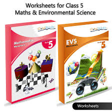 buy worksheets for class 5 maths and environmental science evs