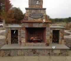 outdoor fireplace arched front 42in showroom with add