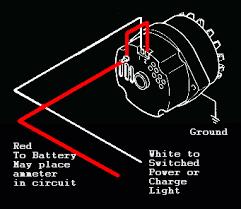 gm alternator wiring diagram 1 wire wiring diagram and schematic