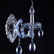 Chandelier Wall Sconce Blue Crystal Pendant Candle Wall Sconces