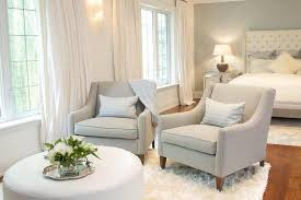 White Armchair With Ottoman Round Ivory Pleated Ottoman With Brown Trim Cottage Bedroom