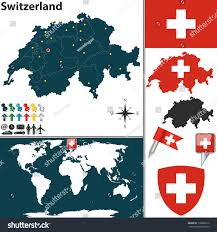 World Map Regions by Vector Map Switzerland Regions Coat Arms Stock Vector 170882216