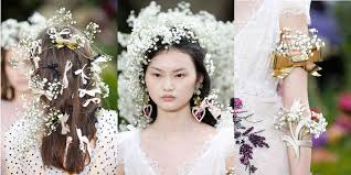 hair bows galore strawberries bows and bridal blossom rodarte s ss18 hair and
