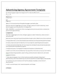 sample contractor agreements advertising contract template