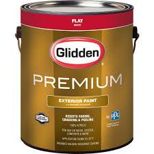 glidden premium 1 gal flat base 1 white exterior latex paint