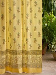 yellow curtain floral curtain summer curtain beach curtain