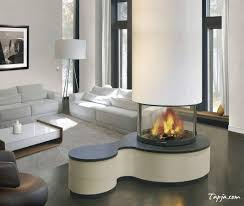 simple small modern fireplace decor ideas in minimalist house