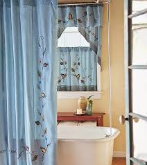 bathroom window curtains ivory color flower pattern embroidered