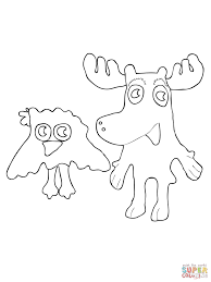 moose a moose and zee coloring page free printable coloring pages