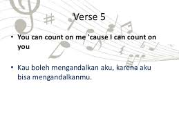 I Can Count On You Bruno Mars Task X Sma Song Analysis Count One Me Bruno Mars