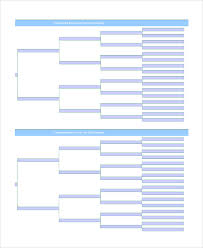Decision Tree Template Excel Sle Blank Family Tree Template 8 Free Documents In