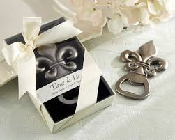 wedding favors bottle opener fleur de lis bottle opener wedding favor by kate aspen