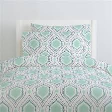 mint and navy moroccan damask duvet cover carousel designs
