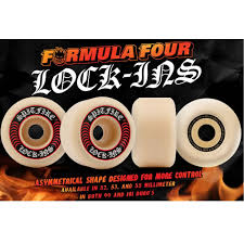 formula 4 spitfire spitfire formula four lock ins 53mm white red skateboard wheels