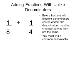 adding fractions with unlike denominators adding fractions with like and unlike denominators presented by