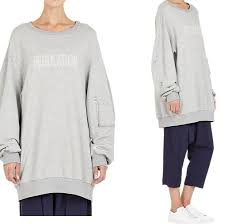 yohji yamamoto oversized sweatshirt shopping and info