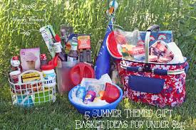 themed gift basket 5 summer themed gift basket ideas for 25 diy home decor