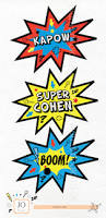 Superhero Photo Booth Superhero Party Decorative Party Signs Photobooth Props Red