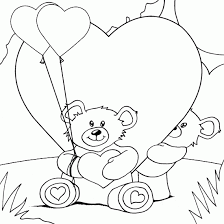 teddy bears hearts coloring coloring