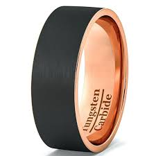 matte black mens wedding bands mens flat black wedding bands s wedding band black gold