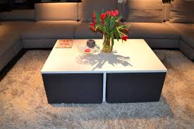 Minimalist Coffee Table by Simple Yet Clever Coffee Table Design With Integrated Chairs Fres