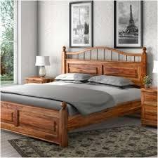 Solid Wood Platform Bed Modern Farmhouse Rustic Solid Wood Platform Bed