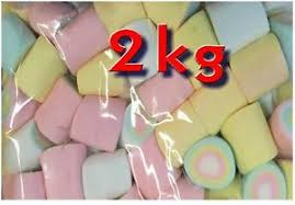 large rainbow marshmallow 2 kg halal gluten free bulk lollies