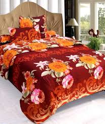 Buy Cheap Double Bed Sheets Online India Fablinen 3d Combo Set Of 2 Double Bed Sheet U0026 4 Pillow Covers