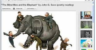 Blind Men And The Elephant Poem The Newsy News Blog Blind Men And The Elephant U2013 A Picture Of