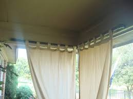 Black Outdoor Curtains Paint Pvc Pipe Black For Outdoor Curtain Rod A Slot Was Cut Into