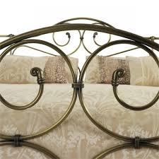serene florence 5ft kingsize antique brass metal bed frame by