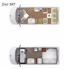 Type B Motorhome Floor Plans New 2018 Roadtrek Zion Srt Motor Home Class B At Fretz Rv