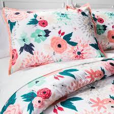 Grey Comforter Target Floral Printed Comforter Set Xhilaration Target