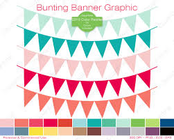 Use Flag Bunting Banner Clipart Commercial Use Clipart Pennant Flag Graphic