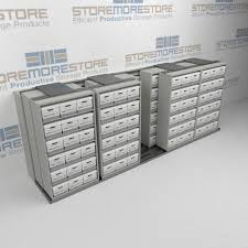 Narrow Storage Shelves by Sliding Box Shelves On Rails Condense Box Storage Space Rolling