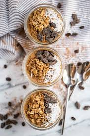 easy chocolate coconut cold brew overnight oats plays well with