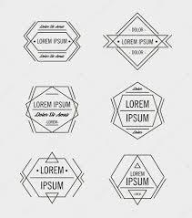 hipster geometric logo design templates u2014 stock vector marylia