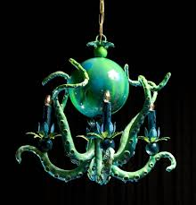 Octopus Light Colorful Octopus Chandeliers By Adam Wallacavage