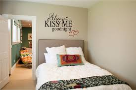 Romantic Bed Decoration For Wedding Night Always Kiss Me Goodnight Vinyl Wall Art Decal Romantic