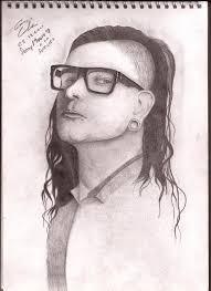 skrillex portrait drawing by x alone x on deviantart