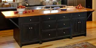 kitchen islands black black butcher block kitchen island bitdigest design convert an