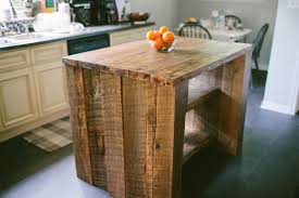 fabulous reclaimed wood kitchen islands with hand made industrial